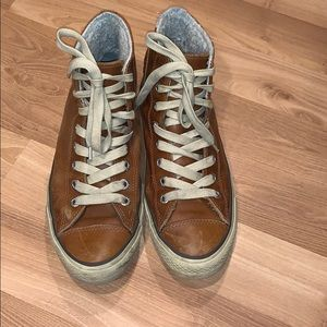 All Star Converse high-top brown leather size 11